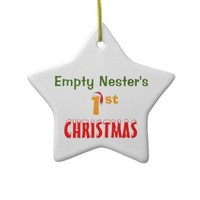 Empty Nester's 1st Christmas Christmas Tree Ornament from Zazzle.com