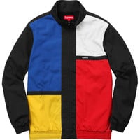 Supreme: Color Blocked Track Jacket - Black