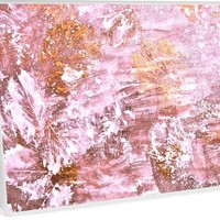 'Autumn Abstract Golden Pink' Laptop Skin by GittaG74
