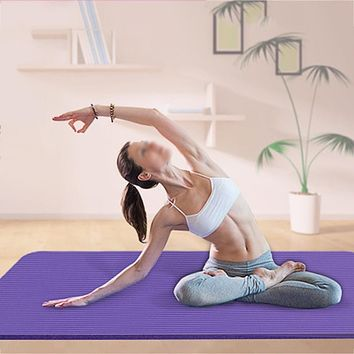 Gym Fitness Exercise Pad Thick Non-slip Folding EVA Pilates Supplies Non-skid Floor Yoga Mat 4 Colors