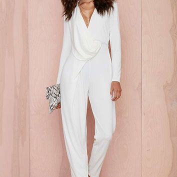 Nasty Gal Swipe Right Drape Jumpsuit