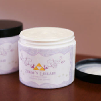 "All Natural ""Zelda's Lullaby"" Whipped Body Butter for Sleep and Relaxation (4 oz.)"