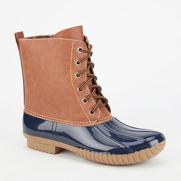 Adriana Dylan Womens Duck Boots Navy  In Sizes
