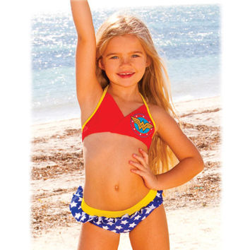 Wonder Woman Toddler Halter Bikini
