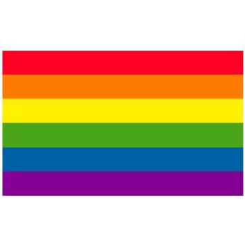Gay Rainbow Sisters Flag Sticker Gay Pride Flag