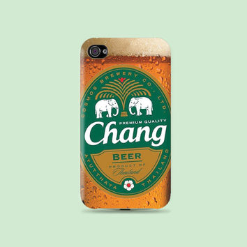 Thai Chang Beer Plastic Hard Case - iphone 5 - iphone 4 - iphone 4s - Samsung S3 - Samsung S4 - Samsung Note 2