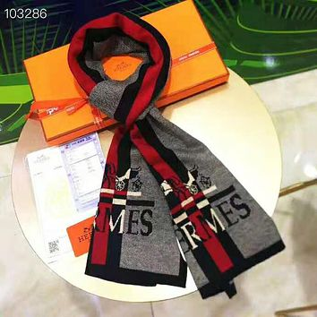 Hermes Trending Men Women Stylish Knitting Cashmere Cape Scarf Shawl Scarves Accessories