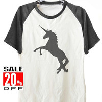 Unicorn shirt animal tee graphic tee funny tops short sleeve shirt unisex size S M L