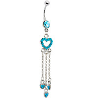Dangling Turquoise Belly Button Ring | Body Candy Body Jewelry