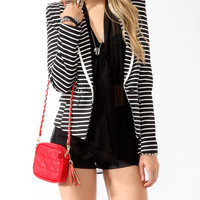 Nautical Striped Blazer | FOREVER21 - 2030186531