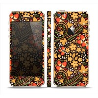 The Colorful Floral Pattern with Strawberries Skin Set for the Apple iPhone 5s