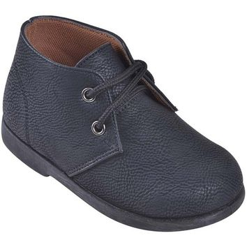 Boys Suede Boots, Black