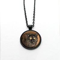 Pet Photo Pendant Picture Necklace,Mothers Day Gift,Pet Owner Gift,Personalized Jewelry,Custom gift for Mom - PN005