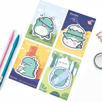 4 pcs/Lot Star moly sticky note Green dinosaur memo pad Post it stickers Scrapbooking Stationery Office School supplies A6742