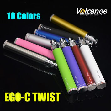 Special ECig Batteries eGo-C Twist Batteries 10 Colors 3.3V-4.8V Adjustable Voltage 650mAh 900mAh 1100mAh 1300mAh eGo C Twist Batteries