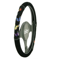 Colorful Girly Butterfly Car Steering Wheel Cover