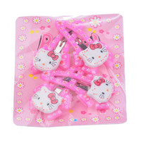4 Pieces hello kitty Hair Clips Flower Hairpin For Baby Girl Toddler Girl Ribbon Bow Kids Satin Bowknot Hairpin Hair Decorations