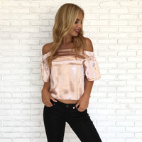 Classic Beauty Strapless Top In Rose Gold