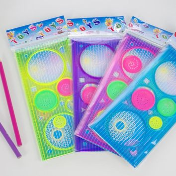 Spirograph Geometric Ruler Drawing Toys Drafting Tools Stencils For Painting Sketchers Drawing Template Learning Education Toys
