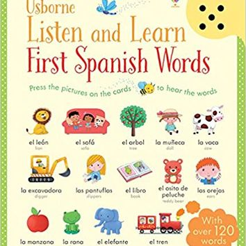 Listen and Learn First Words in Spanish Cards