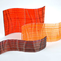 Autumn Waves by Nina Falk: Art Glass Sculptures | Artful Home
