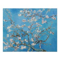 Almond Blossoms Blue Vincent van Gogh Art Painting Perfect Poster