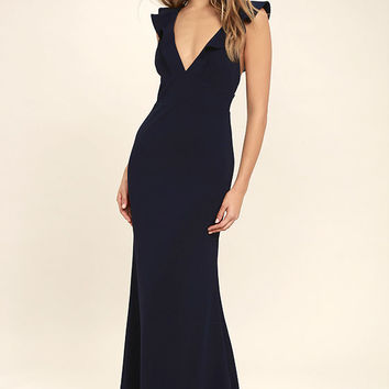 Perfect Opportunity Navy Blue Maxi Dress