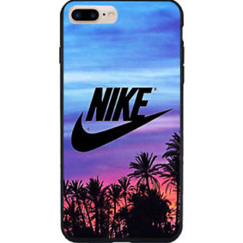 Luxury Nike Just Do It Palm Sunset iPhone 7 and 7+ Hard Plastic Case Cover