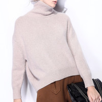 Fashion Loose Knit Cashmere Sweater