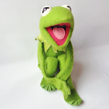 KERMIT the Frog, Fisher Price #850 1976 Jim Henson Muppet Doll