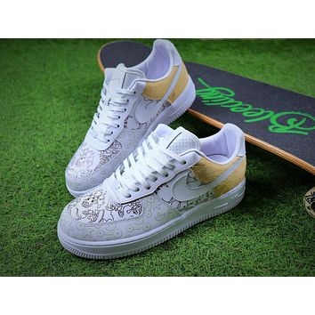 2018 Nike Air Force 1 Low Premium 100th White Sport Shoes Sneaker - Sale