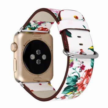 Apple Watch Flower Strap Floral Print Band 38mm 42mm