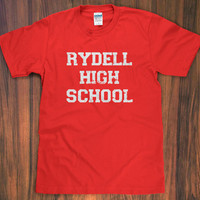 Grease 'Rydell High' T-Shirt - school 50s 70s john travolta oliva newton john movie retro vintage tee t-birds pink ladies S M L XL 2X