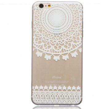 Ultrathin Transparent Boho Lace iPhone 5se 5s 6 6s Case Originality Cover Gift