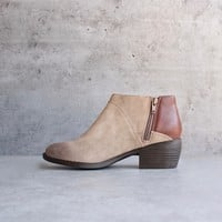 bc footwear union in whiskey + taupe womens ankle boot