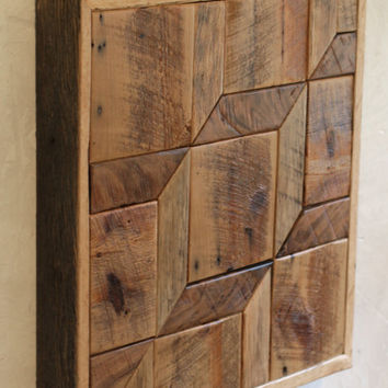Cube Wood Wall Art - 3D - Optical Illusion