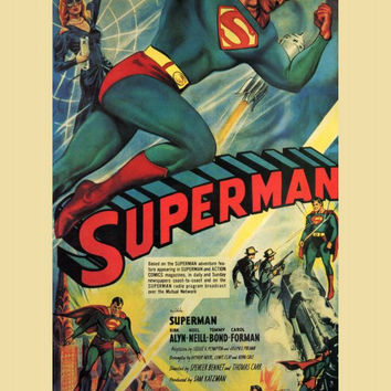 Superman 11x17 Movie Poster (1948)
