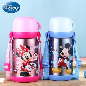 Disney SB60164 600ML Baby Drink Glass Thermos Water Mug Drinking Cups Thermos Cup Portable Vacuum Flasks Insulatied Water Bottle