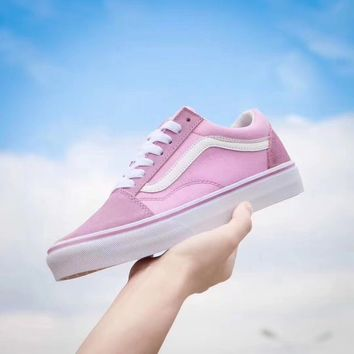 Vans Pink Classic Canvas Leisure Shoes