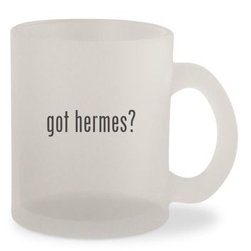 got hermes? - Frosted 10oz Glass Coffee Cup Mug