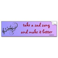 take a sad song car bumper sticker