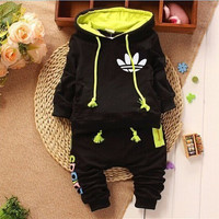 2017 New Spring Autumn Tracksuit Baby Boy Clothes Kids Suit Full Children Set Hooded+Pants 2 pcs Newborn Clothing Sets
