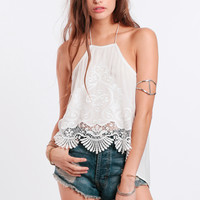 Aphrodite Embroidered Halter Top