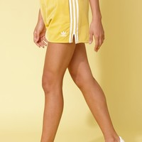 adidas Adicolor Yellow 3-Stripes Shorts at PacSun.com