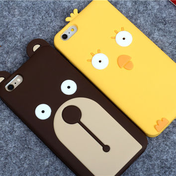 On Sale Hot Sale Iphone 6/6s Hot Deal Stylish Cute Korean Silicone Apple Cartoons Lovely Phone Case [6034143873]