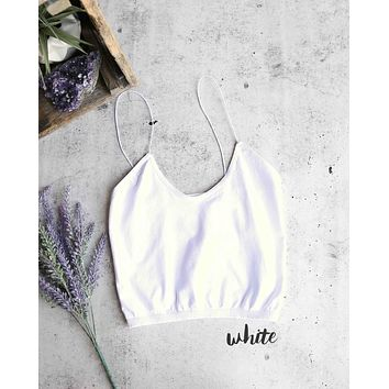 free people - skinny strap brami crop top - more colors