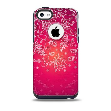 The Glowing Pink & White Lace Skin for the iPhone 5c OtterBox Commuter Case