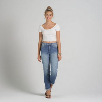 A&F Allie Boyfriend High Rise Jeans from Abercrombie & Fitch