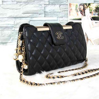 CHANEL Women Fashion Shopping Leather Shoulder Bag Satchel Crossbody
