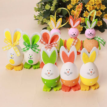 Cute Bunny Shaped Easter Eggs Hanging Decor